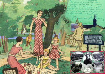 collage, Jao, carte postale, Creuse, vallée de la Creuse, Vallée des peintres entre Berry et Limousin, Fresselines,