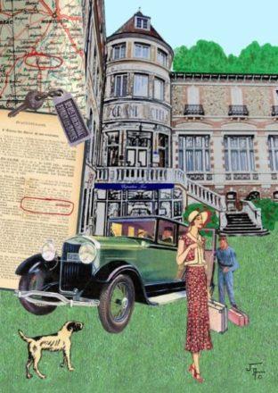 collage, Jao, carte postale, Creuse, Evaux les Bains,