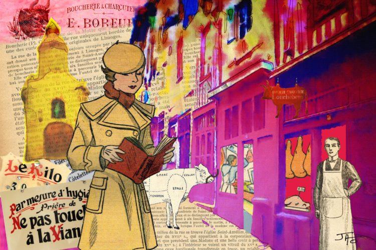 collage, carte postale, Jao, humour, insolite, Creuse, Indre, Berry, récupération, recyclage