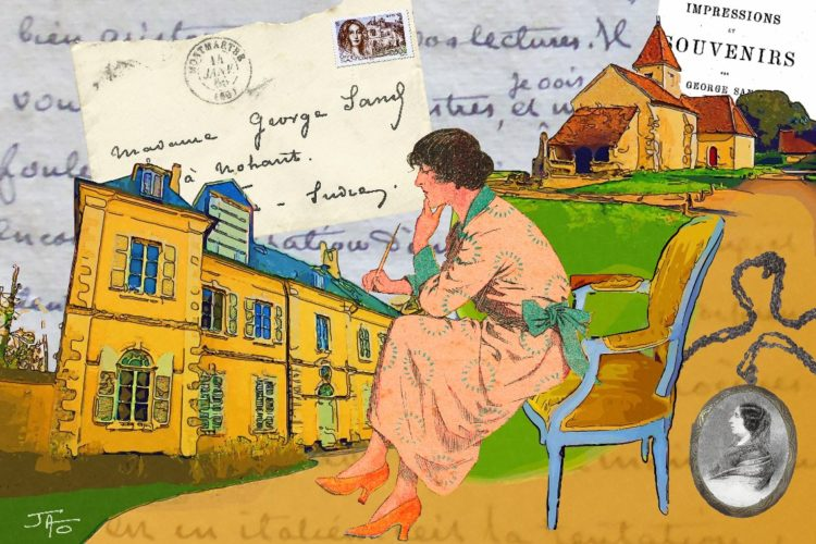 collage, carte postale, Jao, humour, insolite, Creuse, Indre, Berry, récupération, recyclage, Nohant, George Sand