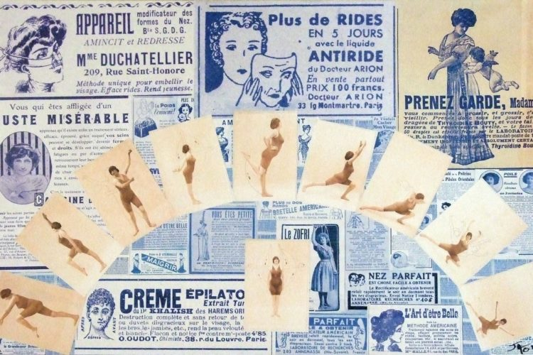 collage, carte postale, Jao, humour, insolite, Creuse, Indre, Berry, récupération, recyclage,