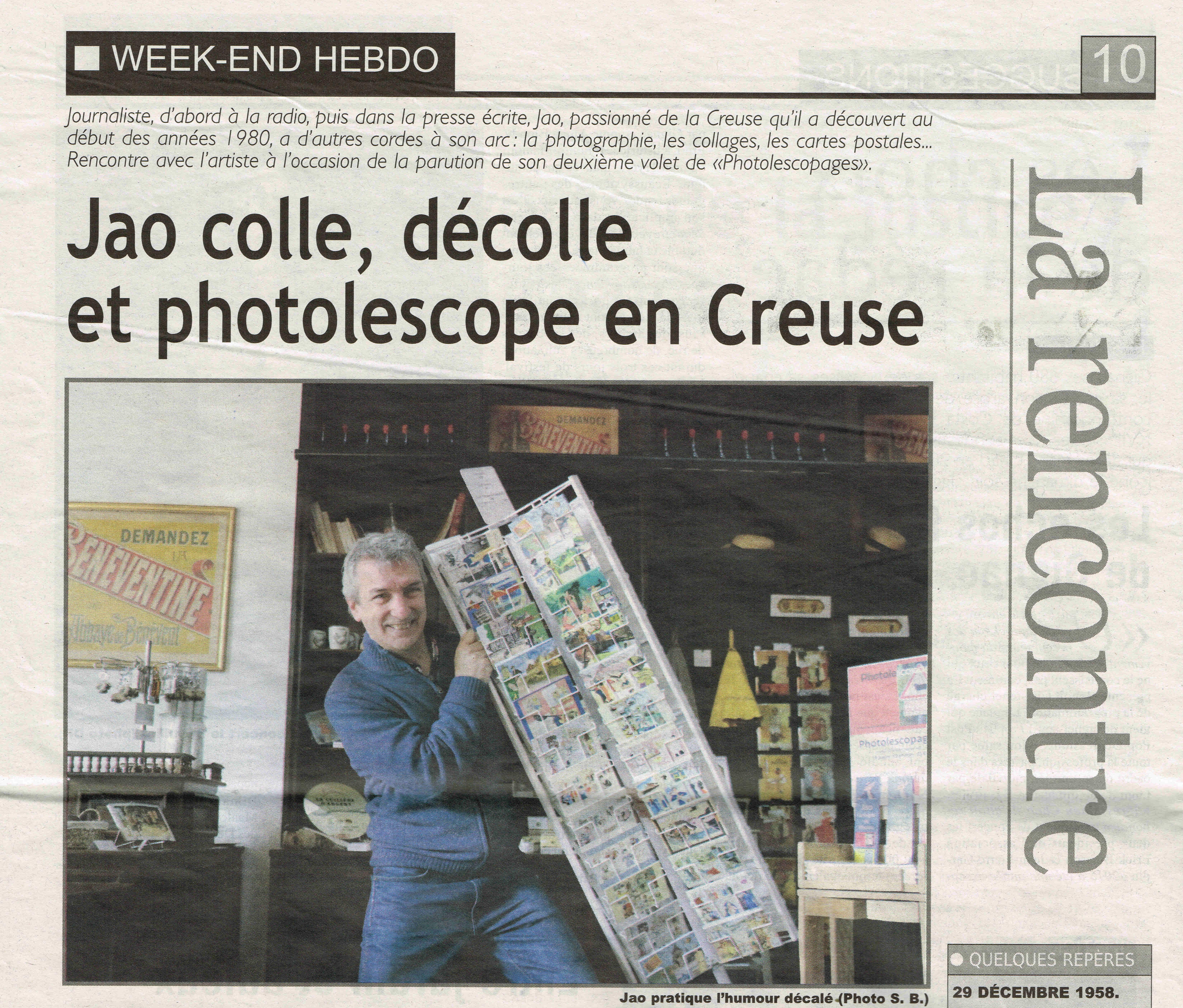 photo, humour, insolite, carte postale, Creuse, Indre
