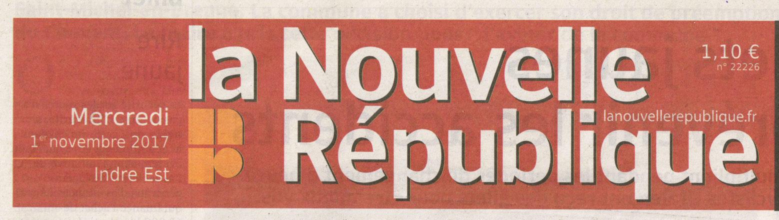 La Nouvelle République – 3 novembre 2017