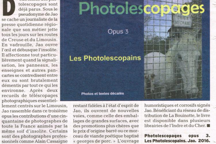 collage, carte postale, photo, Photolescopages, Jao, humour, insolite, livre, Creuse, Indre, Berry, street-art, récupération, recyclage