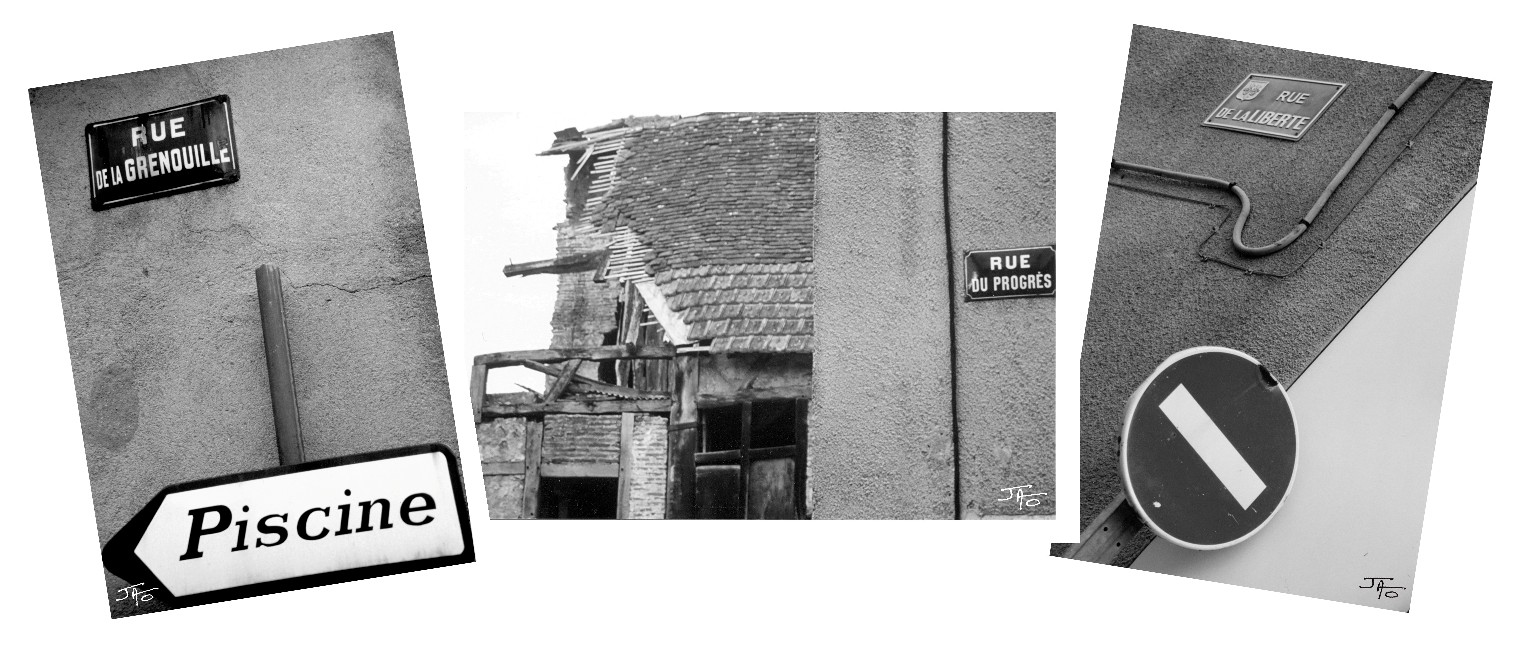 Rue de la grenouille – Rue du progrès – Rue de la liberté