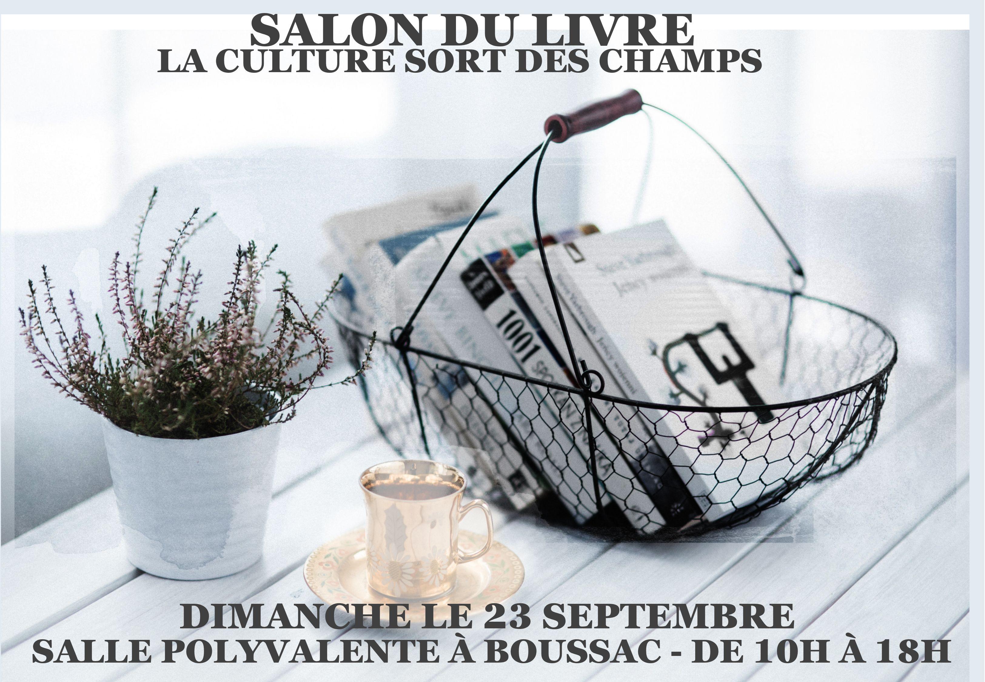 Salon du livre de Boussac (23) –Dimanche 23 septembre 2018