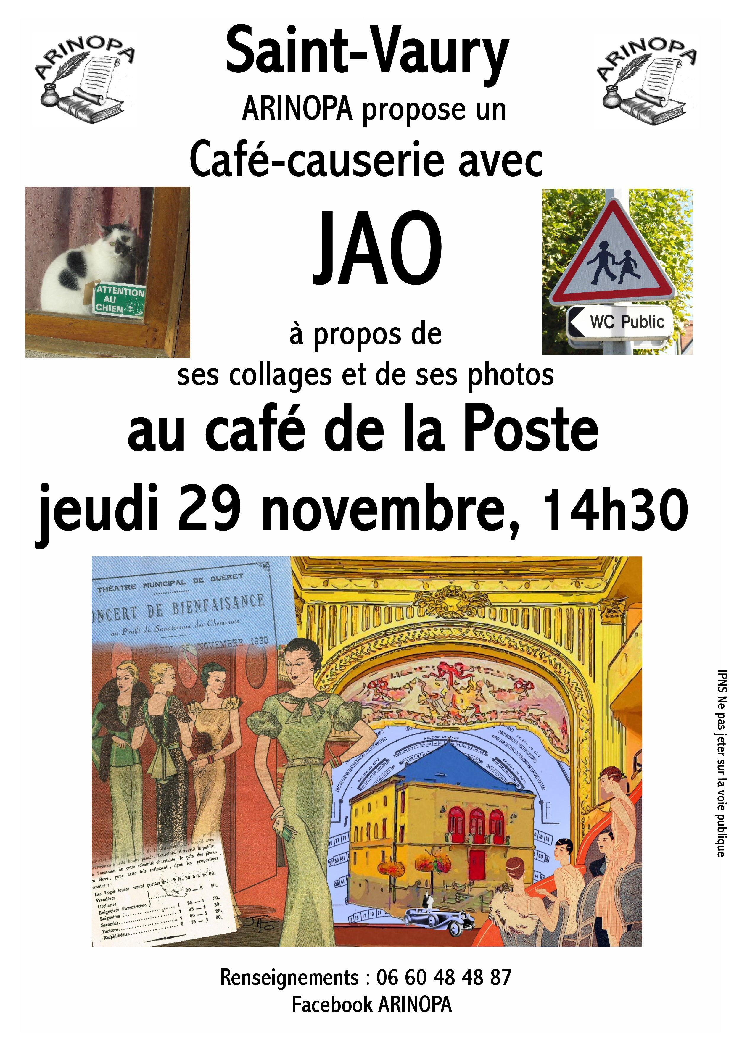 Café-causerie St Vaury (23) – Jeudi 29 novembre 2018