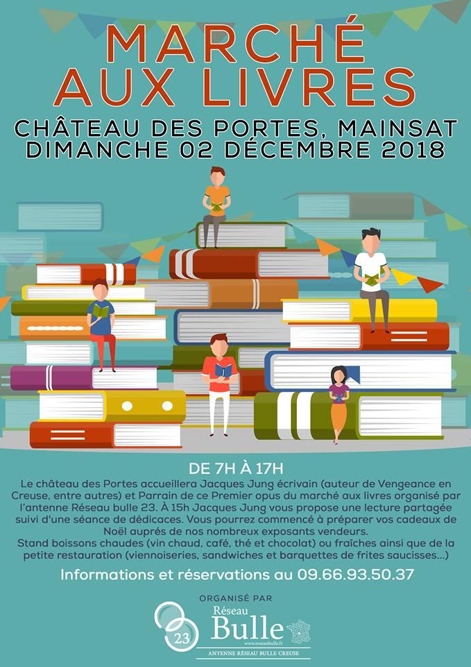 Marché aux livres Chateau de Mainsat (23) – Dimanche 2 décembre 2018