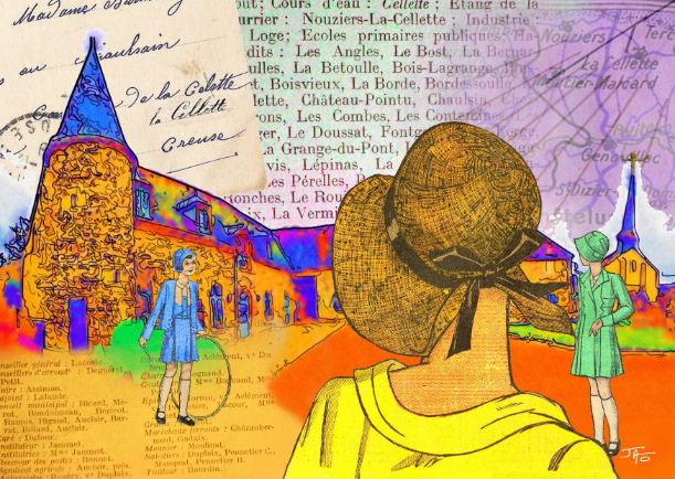 La Cellette – Nouvelle carte postale-collage