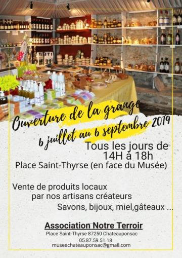 Châteauponsac (87) – Du 6 juillet au 6 septembre 2019