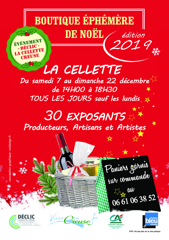La Cellette (23) – du samedi 7 au samedi 21 décembre 2019