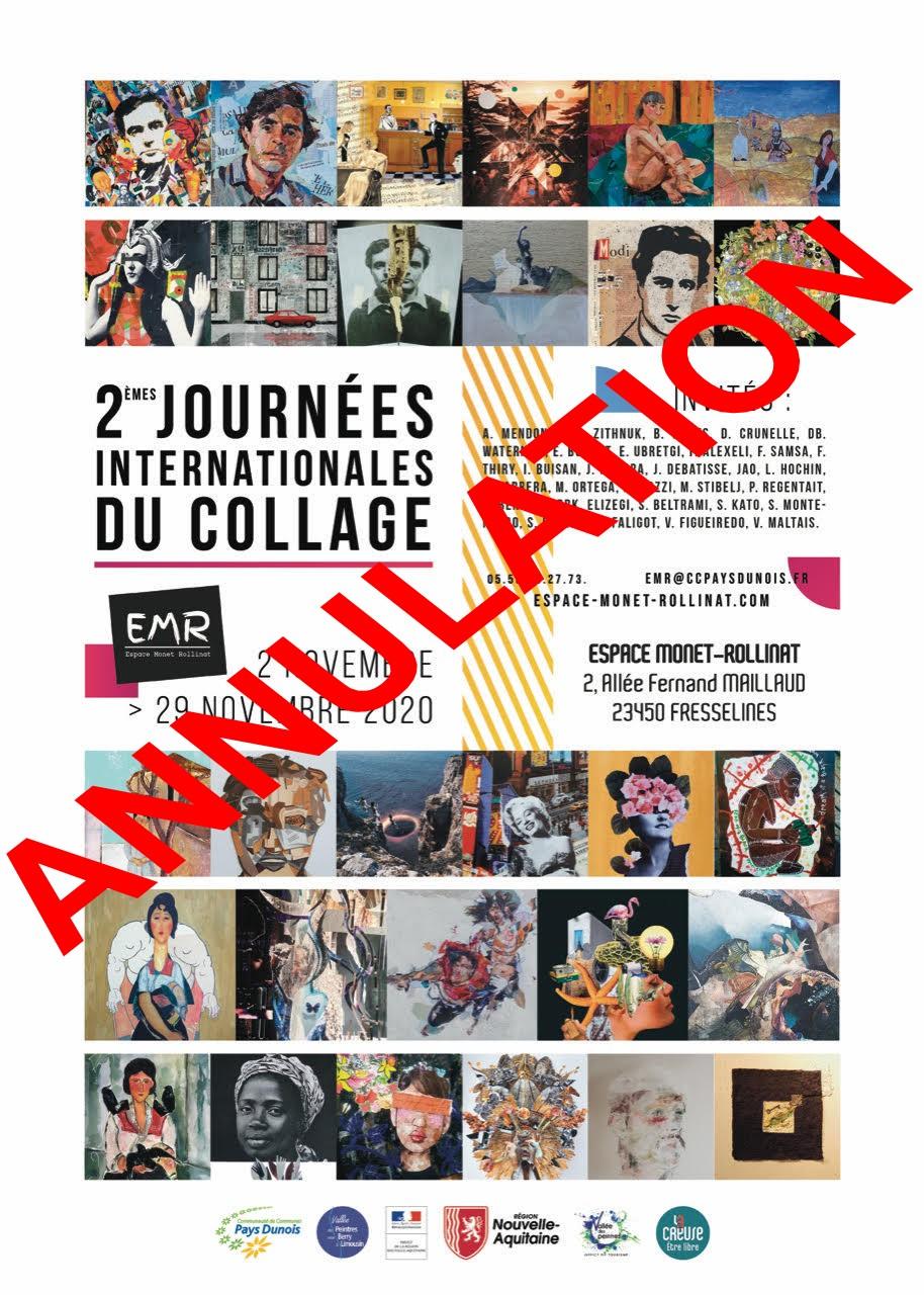 Fresselines (23) EMR – Journées internationales du collage, du 2 au 29 novembre 2020